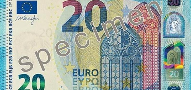 Ecco la nuova banconota da 20 euro, pi&