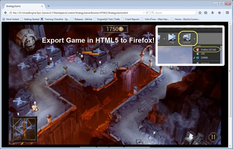 Unreal Engine 4 gets native HTML5 exporting!