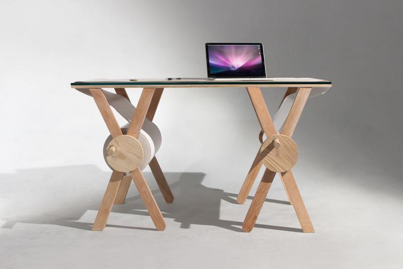 The Analog Memory Desk The desk has a built-