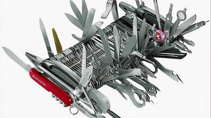 Wenger Giant Swiss Army Knife Make James Bond, MacGyver and Inspector Gadget look like ill-