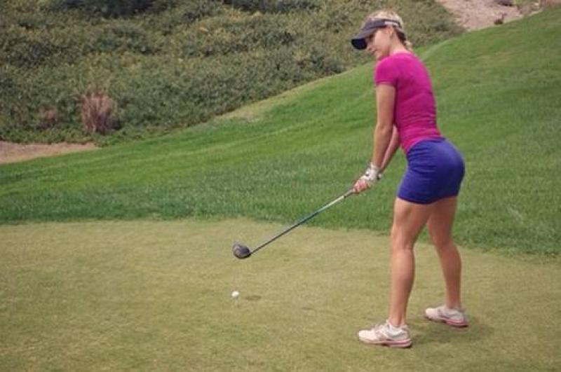 La golfista pi&