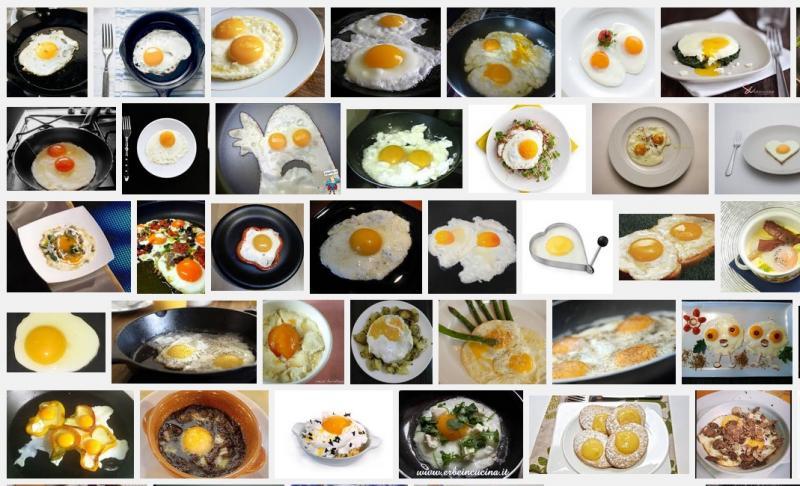 4500 modi di fare le uova al tegamino Abbiamo provato  a contare le ricette italiane in rete che riguardano le uova al tegamino, incredibilmente a dirsi risulta essere non solo il piatto preferito&