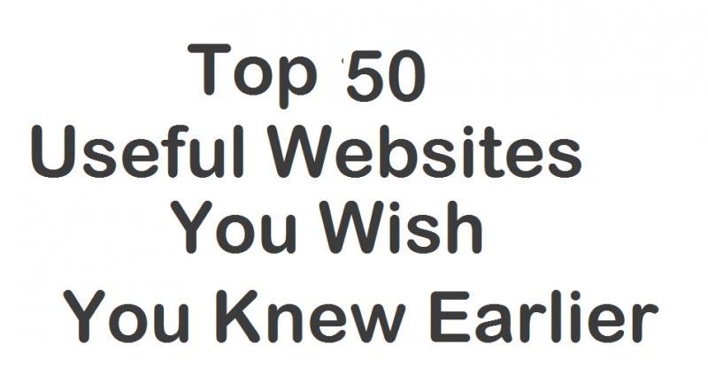 TOP 50 USEFUL WEBSITES  www.
