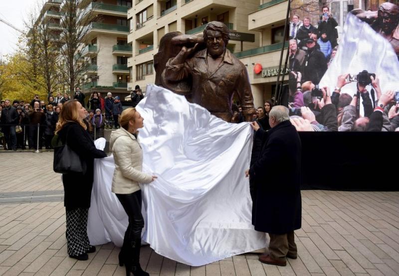 La statua di Bud Spencer in Ungheria.