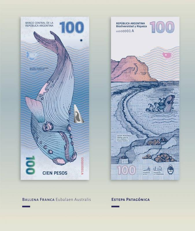 Restyling delle banconote argentine ad opera della graphic designer Gilda Martini e dell'