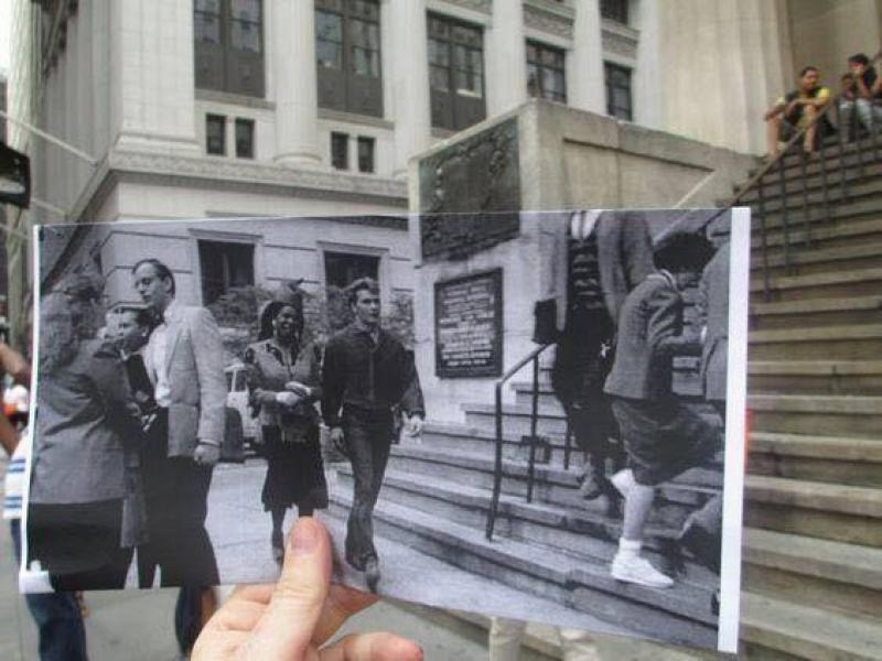 A gallery of photos of places mixed with their past history.